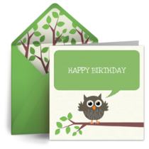 Wise Owl card image