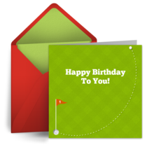 Hole in One Birthday card image