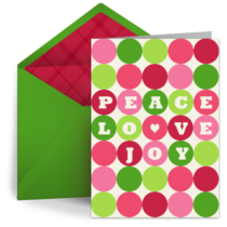 Holiday Candy Dots card image