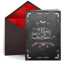 Free Christmas eCards. Looks like real stationery! | Punchbowl