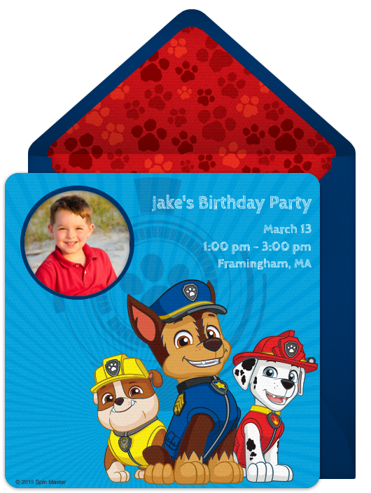 Digital PAW Patrol Invitations Customize Online