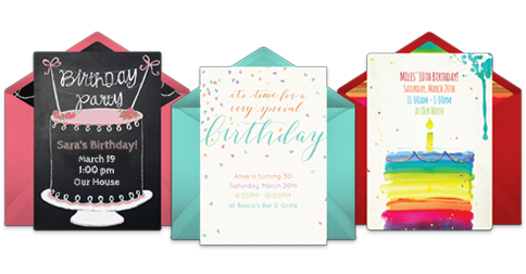 Free birthday invitations online invites punchbowl stopboris Gallery