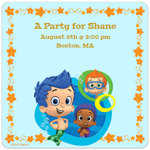 Digital Bubble Guppies Invitations Customize Online