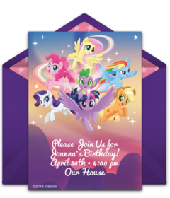 Digital My Little Pony Invitations Customize Online