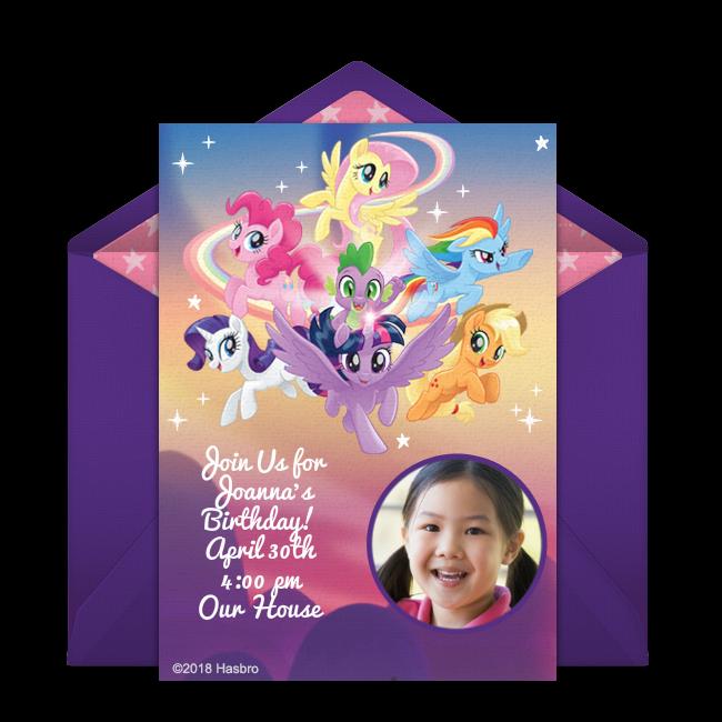 Digital My Little Pony Invitations Customize Online