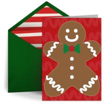 Gingerbread Man  card image