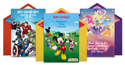 Free Online Invitations With Kids Characters