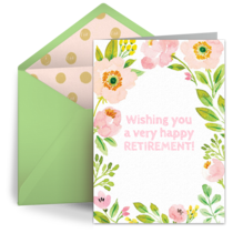 Spring Retirement card image