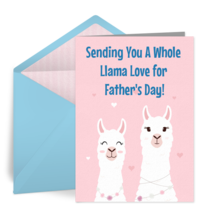 Father's Day Llama Love card image