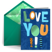 Father's Day Love You card image