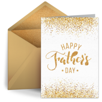 Golden Father's Day card image