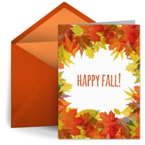 Fall Leaf Pile card image
