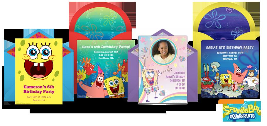 Free SpongeBob Invitations SquarePants Online