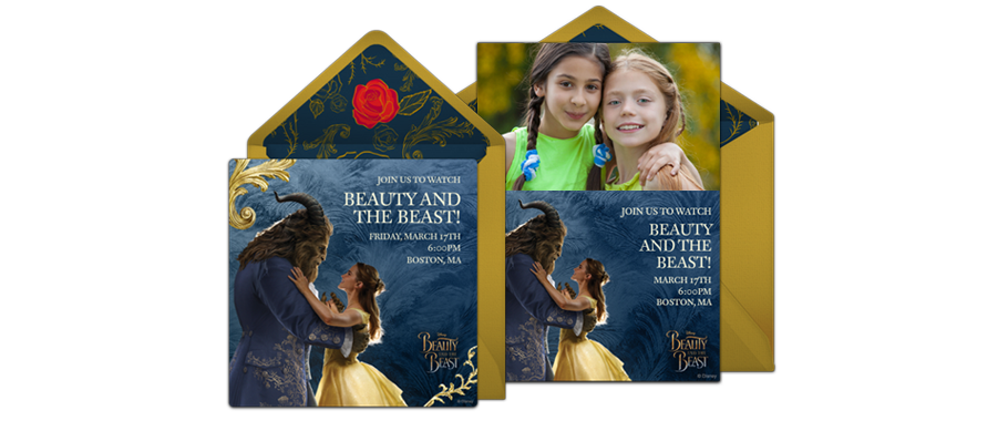 Beauty and the Beast Online Invitations