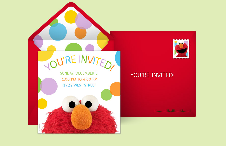 Plan A Elmo Party!  Online Birthday Invitations Templates