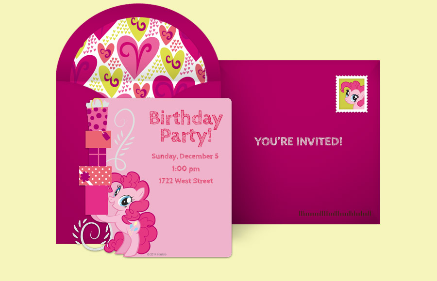Plan a Pinkie Pie Party!
