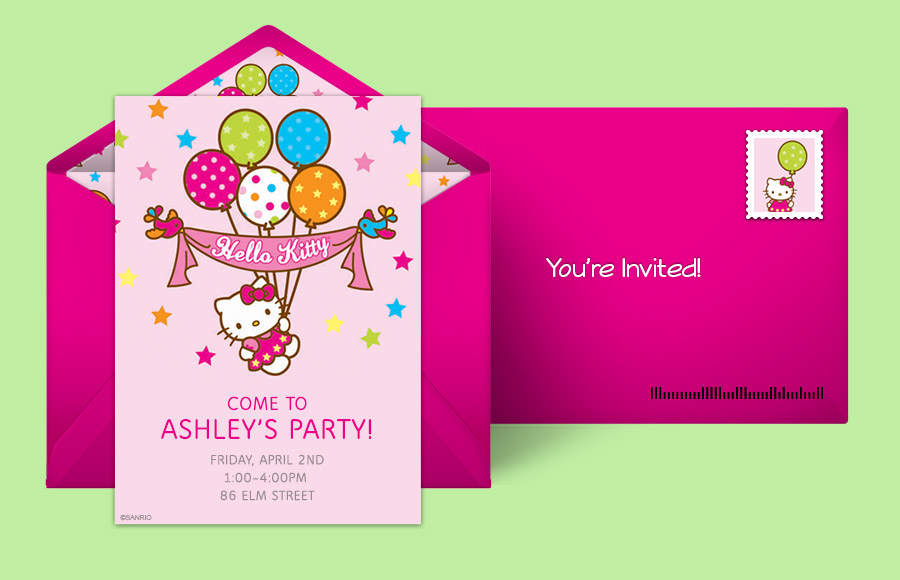 Free Hello Kitty Invitations Hello Kitty Online Invitations - Free hello kitty birthday invitation templates