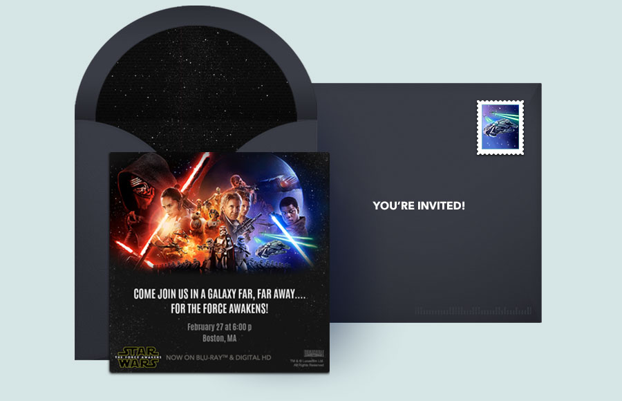 Free Star Wars Invitations, Star Wars Online Invitations | Punchbowl