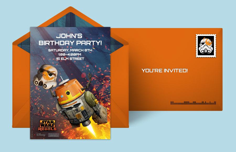 Free Star Wars Invitations Online Punchbowl
