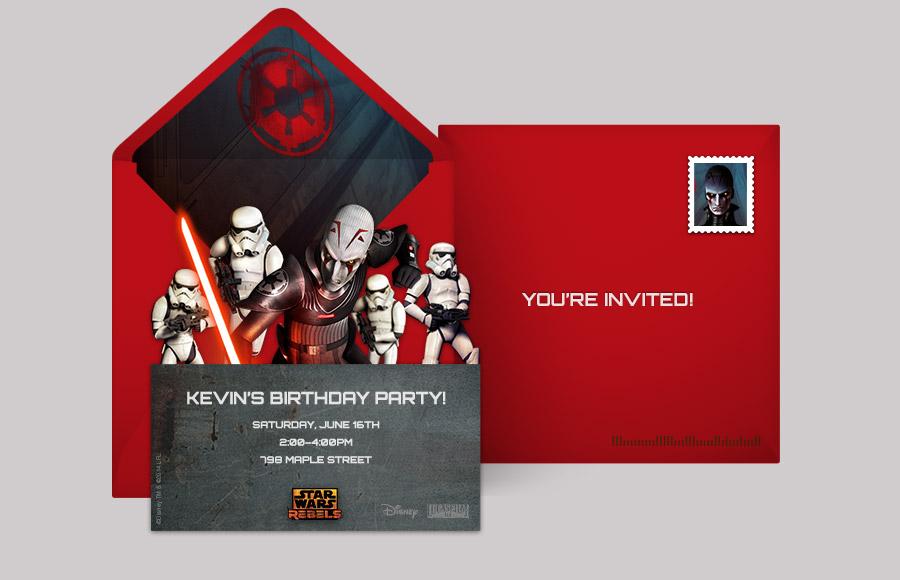 Free Star Wars Invitations Star Wars Online Invitations Punchbowl - Star wars birthday invitation maker