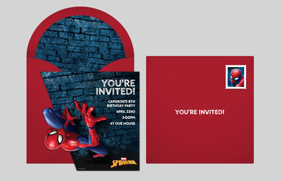 Spider Man Online Invitations Punchbowl Punchbowl